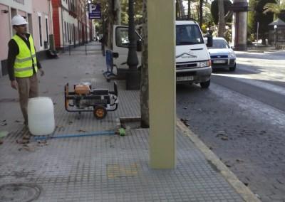 Instalación postes parada de bus